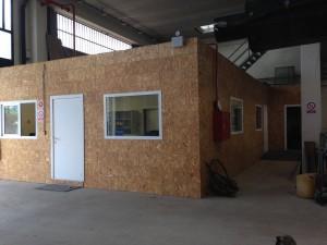 Oficinas, vestuarios y almacén para pabellón en Muskiz